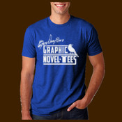 Graphic Novel-Tees 1 color Logo white signature shirt unisex