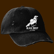 Black Sheep brand dripping Crow baseball cap distressed