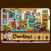 Creatives Services Web Site Front Page Mousepad