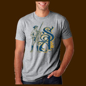 Sentinal Arms Logo2 NavyGold Unisex Tee