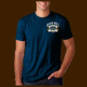 Atwill's Wagon Wheel festival tee left chest and full back